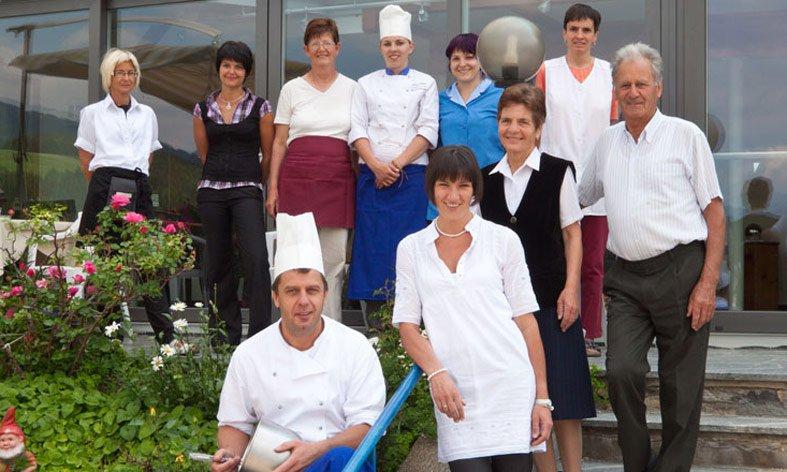 DAT team van hotel Waldrast op Kronplatz